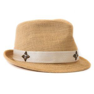 New!! PETER GRIMM Straw Fedora Hat